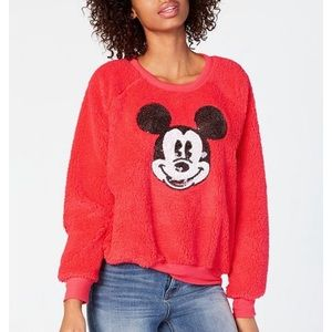 Disney • Jerry Leigh Sequin Mickey Fuzzy Sweater